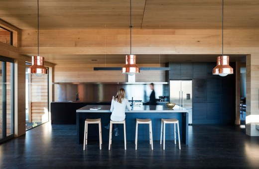 "By selecting contrasting materials and colours we created a striking interior environment that reflected the architects design brief of a 'Contemporary Barn"" for this Queenstown Lifestyle property."